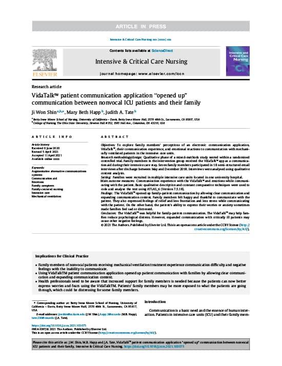 VidaTalk Patient Communication